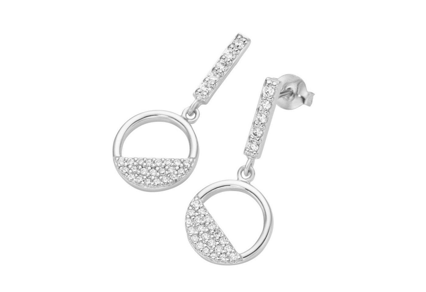 Smart Jewel Paar Ohrstecker »Kreis«   Schmuck > Ohrschmuck & Ohrringe > Ohrstecker   Weiß   Smart Jewel