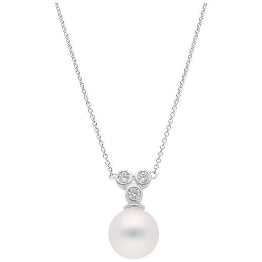 GIORGIO MARTELLO MILANO Perlenkette »mit weißer Muschelkern Perle und Zirkonia«