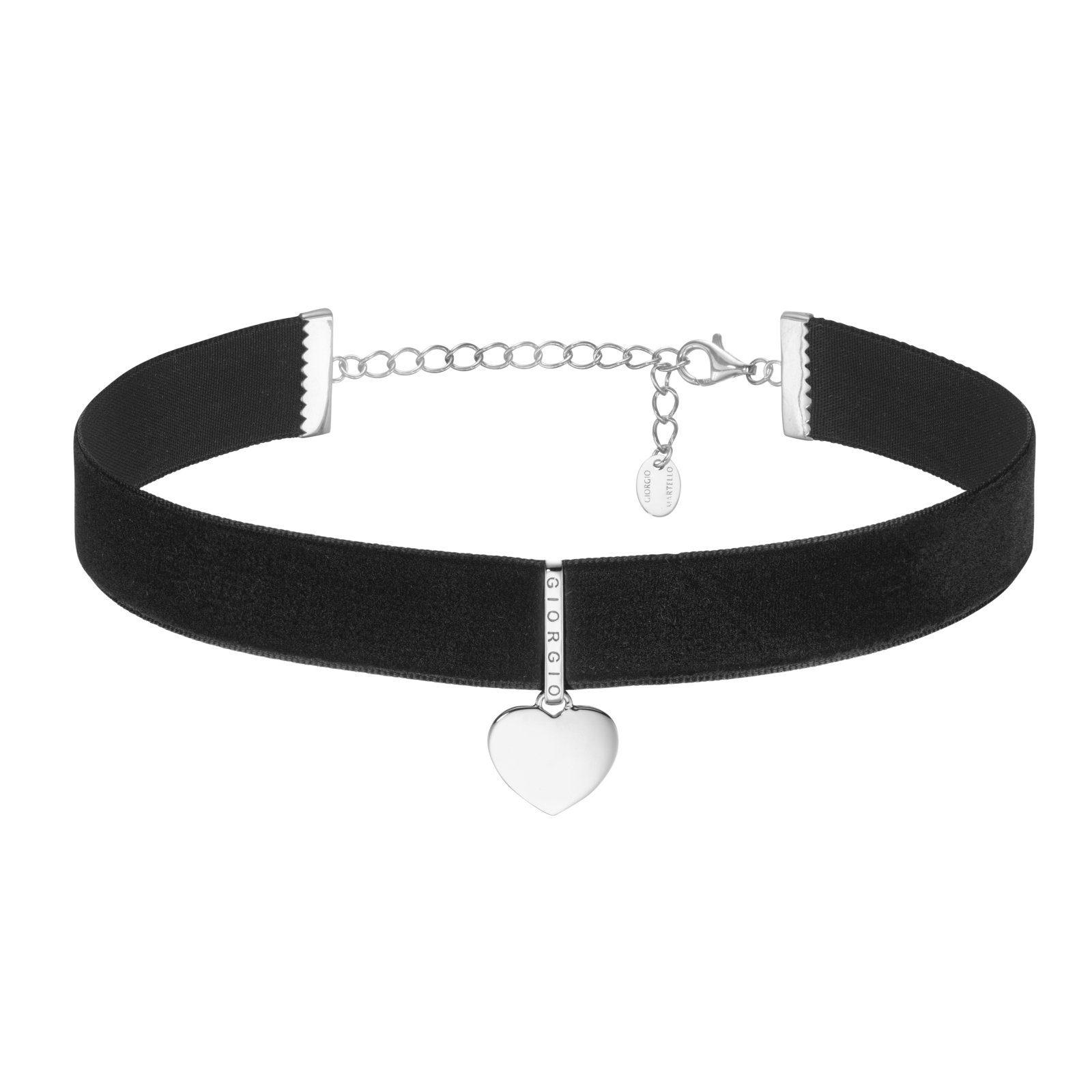 GIORGIO MARTELLO MILANO Halsband »Samtband Choker mit Anhänger Herz«