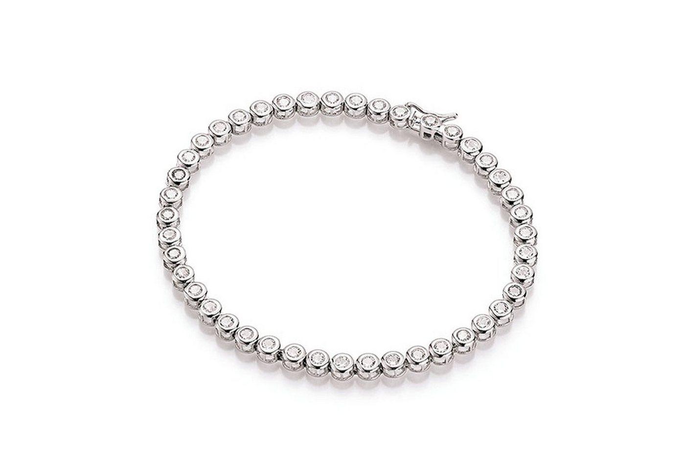 Smart Jewel Tennisarmband »Tennisarmband Optik mit Zirkonia« | Schmuck > Armbänder > Tennisarmbänder | Weiß | Smart Jewel