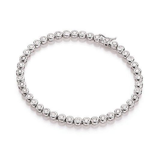 Smart Jewel Tennisarmband »klassisch, mit Zirkonia Steine, Silber 925«