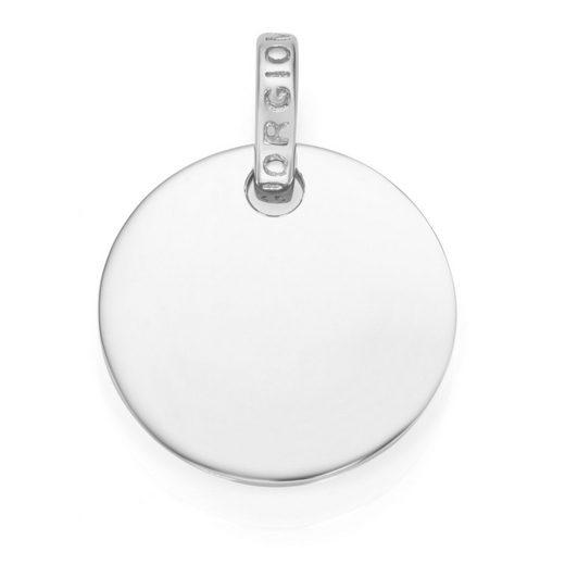 GIORGIO MARTELLO MILANO Kettenanhänger »runde Gravurplatte, Silber 925«