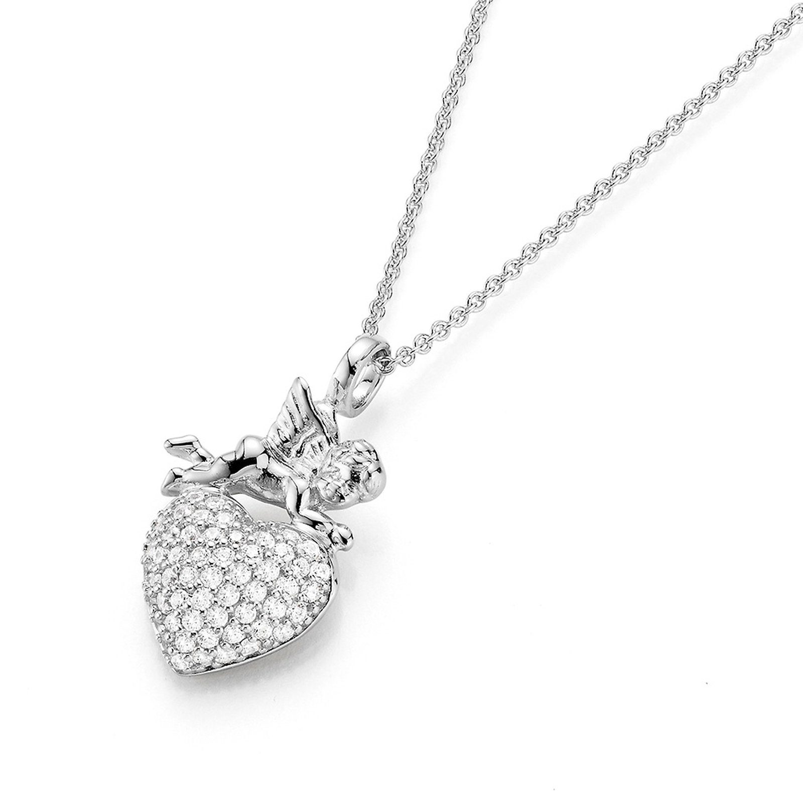 GIORGIO MARTELLO MILANO Herzkette »Anhänger mit Herz und Engel«