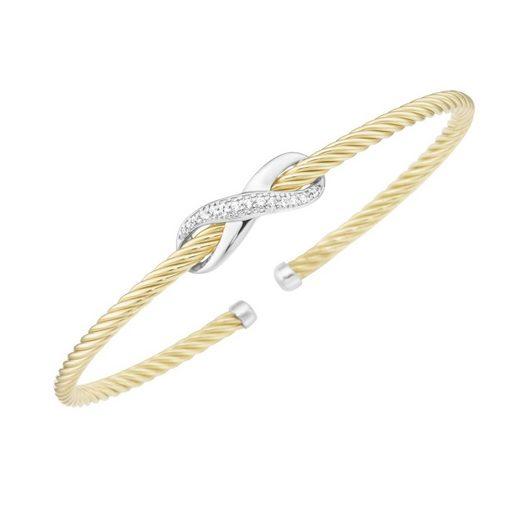 Smart Jewel Armspange »Infinity Symbol, Zirkonia Steine, Silber 925«