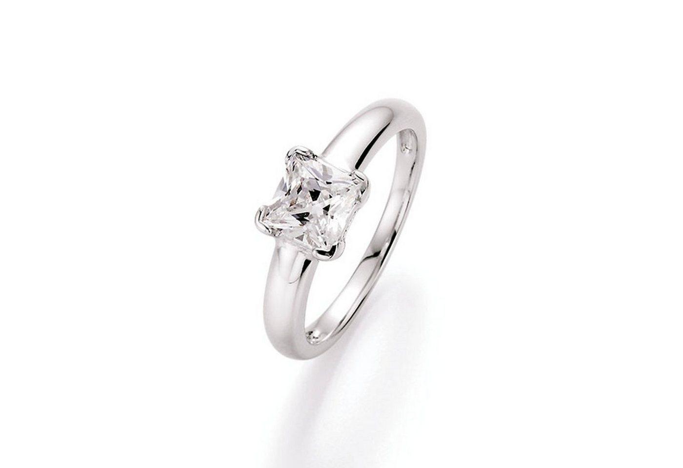 Smart Jewel Verlobungsring »Zirkonia carréförmig« | Schmuck > Ringe > Verlobungsringe | Weiß | Smart Jewel