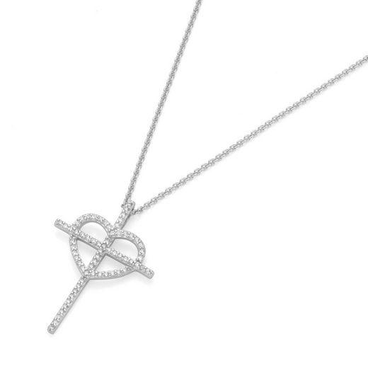 GIORGIO MARTELLO MILANO Kreuzkette »Anhänger Kreuz und Herz«