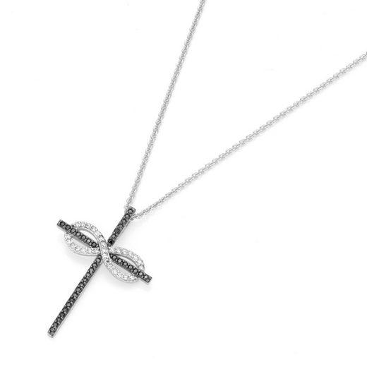 GIORGIO MARTELLO MILANO Kreuzkette »Anhänger Kreuz und Infinty (Unendlichkeit) Symbol«