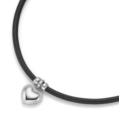 Jacques Charrel Herzkette »Herz Anhänger Lederband«