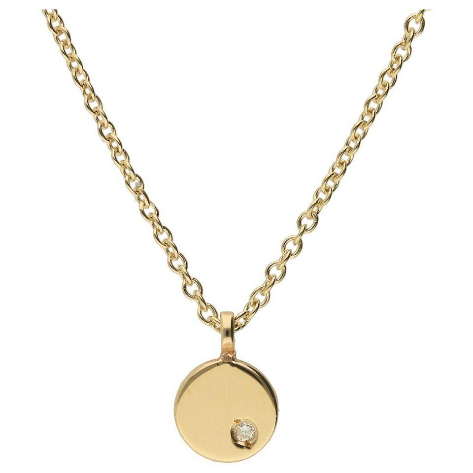 Luigi Merano Goldkette »rund mit Diamant, Gold 585« online