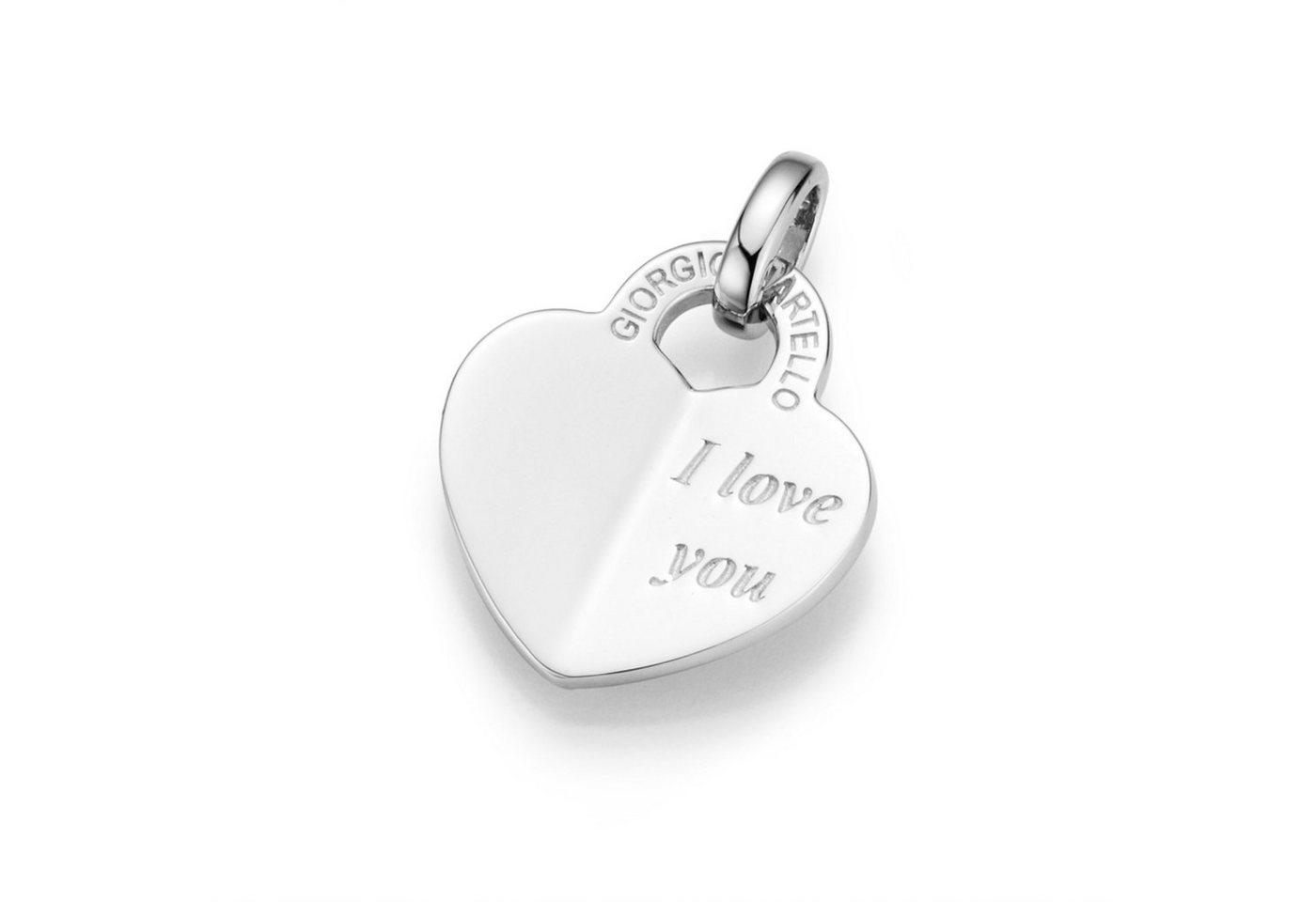 GIORGIO MARTELLO MILANO Herzanhänger »Herz mit Gravurplatte I love you« | Schmuck > Halsketten > Herzketten | GIORGIO MARTELLO MILANO