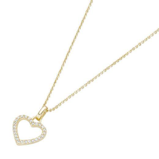 Luigi Merano Herzkette »Anhänger Herz mit Brillanten, Gold 585«
