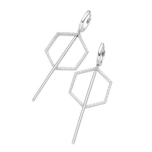 GIORGIO MARTELLO MILANO Paar Creolen »Hexagon Behang«
