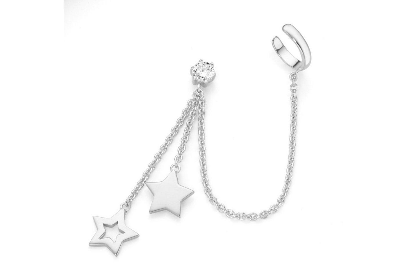 Smart Jewel Single-Ohrstecker »trendig in Sternoptik, Singlestecker«   Schmuck > Ohrschmuck & Ohrringe > Ohrstecker   Weiß   Stein   Smart Jewel