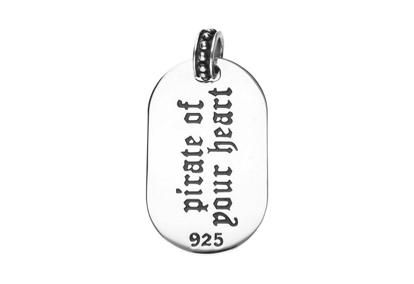 GIORGIO MARTELLO MILANO Dog Tag Anhänger »Plakette Gravur pirate of your heart« | Schmuck > Halsketten > Ketten mit Gravur | GIORGIO MARTELLO MILANO