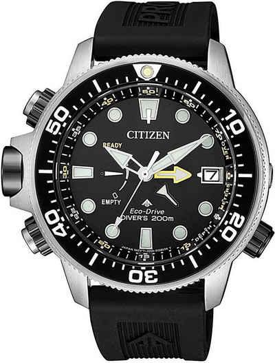 Citizen Taucheruhr »Promaster Eco-Drive Aqualand 200m, BN2036-14E«, (Set, 2-tlg., mit Verlängerungsband)