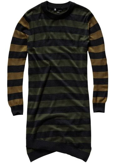 G-Star RAW Strickkleid »Asym r dress knit wmn l/s« im Streifen-Design
