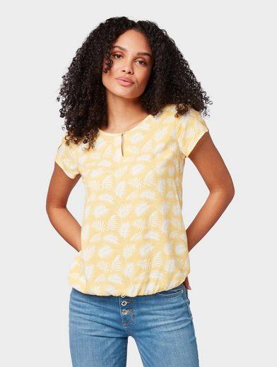 TOM TAILOR Shirtbluse »Bluse mit Blütenblatt-Ärmeln«
