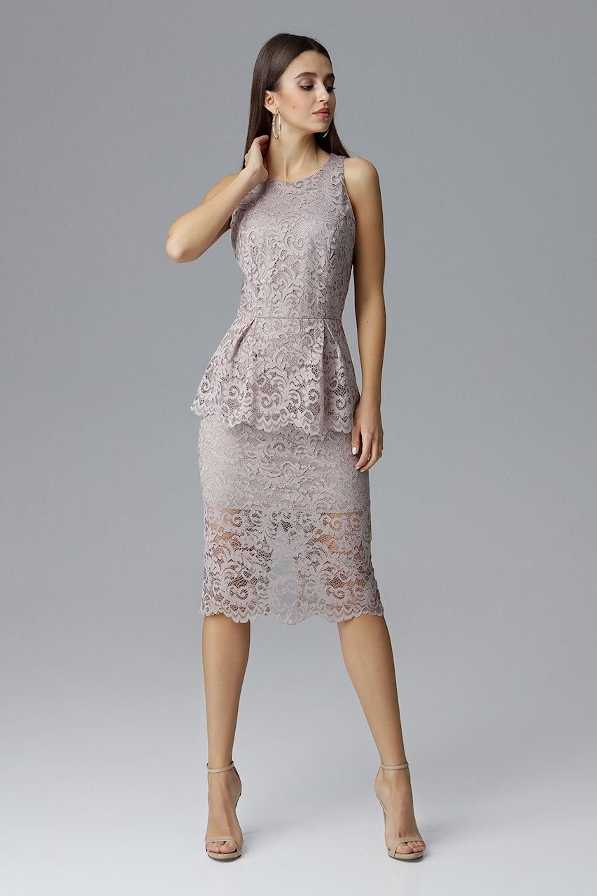 FIGL Damen Kleid Beige