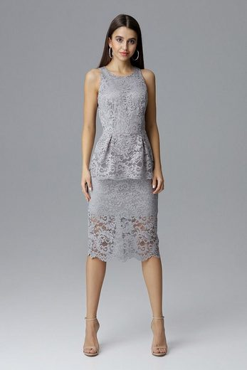 FIGL Kleid aus Spitze mit Schößchen-Detail