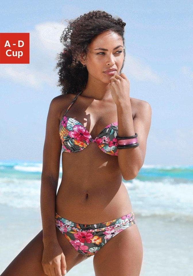 Bademode - Buffalo Push Up Bikini Top »Pine«, mit floralem Design ›  - Onlineshop OTTO