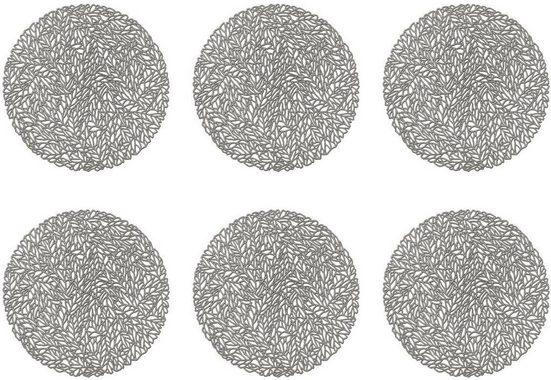Platzset, »Leaves«, Zeller Present, (Set, 6-St)