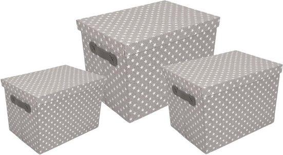 Franz Müller Flechtwaren Aufbewahrungsbox »TexBox« (Set, 3 Stück)