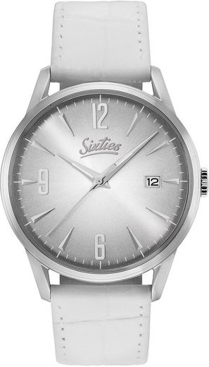 Sixties Quarzuhr »Sunrise Silver All White, SIX500SL-02-2«