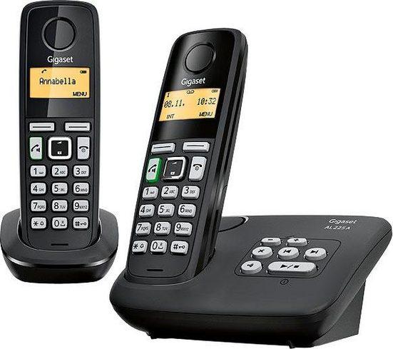 Gigaset »AL225 A Duo« Schnurloses DECT-Telefon (Mobilteile: 2, mit Anrufbeantworter)