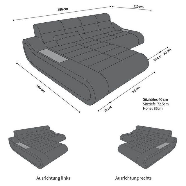 Sofa Dreams Ecksofa »Concept«| L Form kurz | Wohnzimmer > Sofas & Couches > Ecksofas & Eckcouches | Braun | Leder | Sofa Dreams