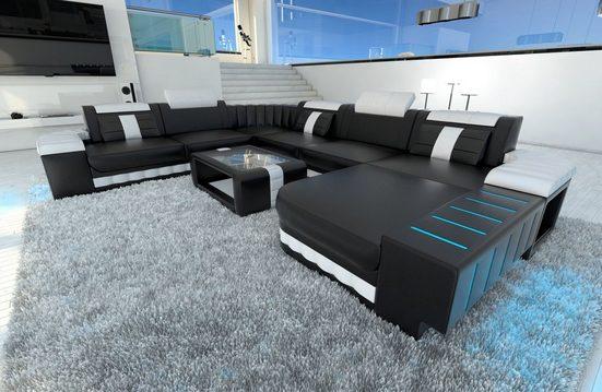 Sofa Dreams Wohnlandschaft »Bellagio«, U Form XXL