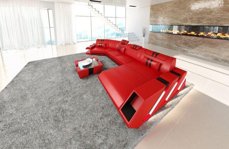 Sofa Dreams Wohnlandschaft »Apollonia«, C Form