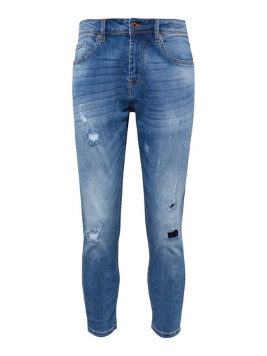 Solid Tapered-fit-Jeans »LOWCROTCH-FRANK BLUE1«