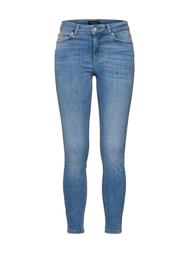 pieces Skinny-fit-Jeans »PCDELLY MW CROP SLIT SK LB108-BA/NOOS«