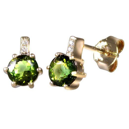 Creazione Bijoux Ohrstecker »750/- Rotgold mit Turmalin und Diamanten«