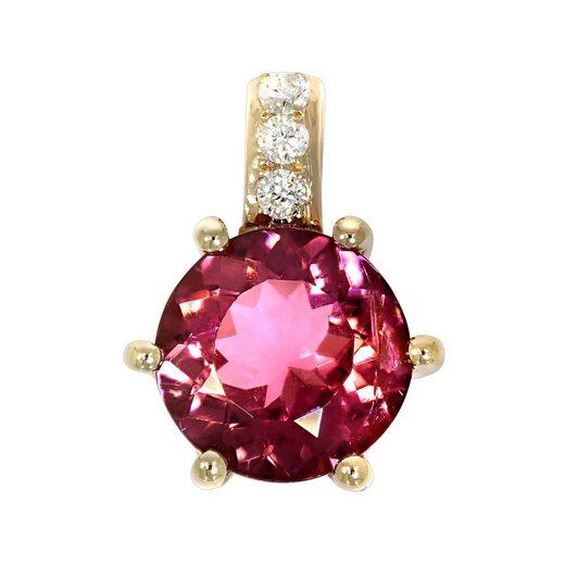 Creazione Bijoux Anhänger »750/- Rotgold mit Turmalin und Diamanten«