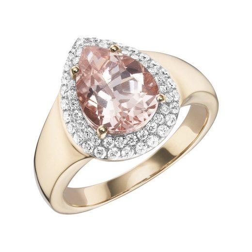 Creazione Bijoux Ring »750/- Roségold mit Morganit und Diamanten«