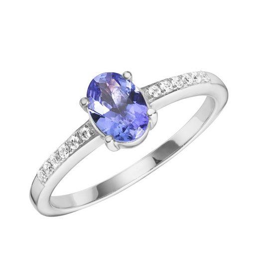 Creazione Bijoux Ring »750/- Weißgold mit Tansanit und Diamanten«