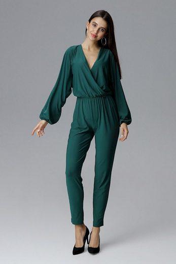 FIGL Jumpsuit mit langem Arm und langem Bein