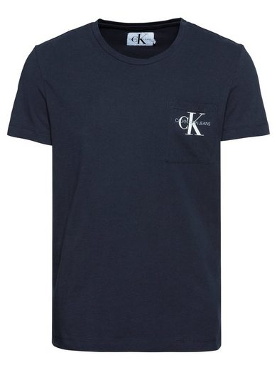 Calvin Klein Print-Shirt »MONOGRAM POCKET SLIM TEE«