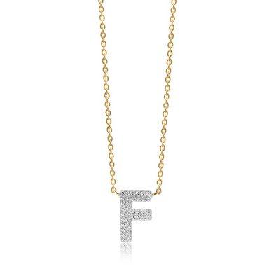 Sif Jakobs Jewellery Halskette mit F-Anhänger »NOVOLI F«
