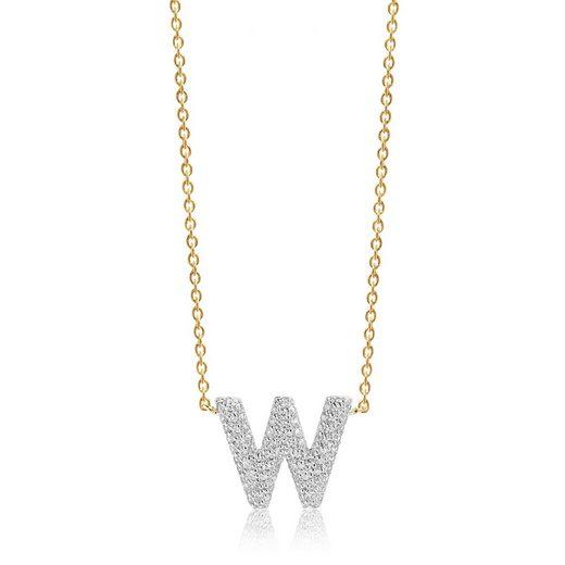 Sif Jakobs Jewellery Halskette mit W-Anhänger »NOVOLI W«