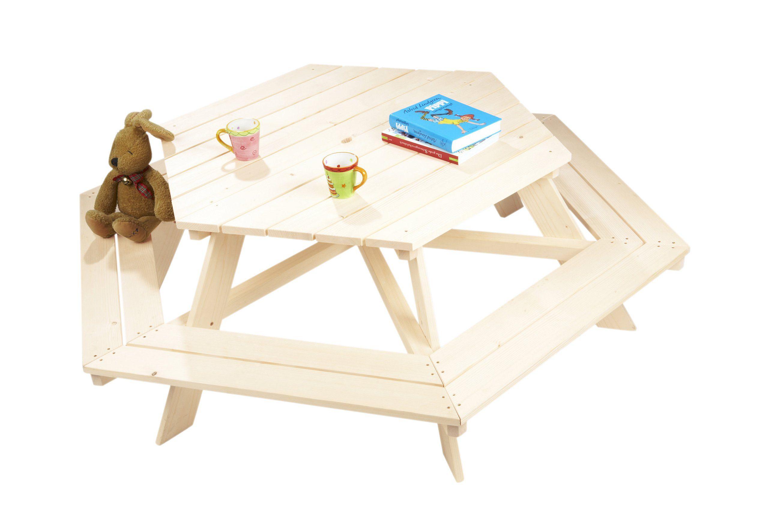Pinolino Kindersitzgruppe 6-eckig aus Holz »Nicki«