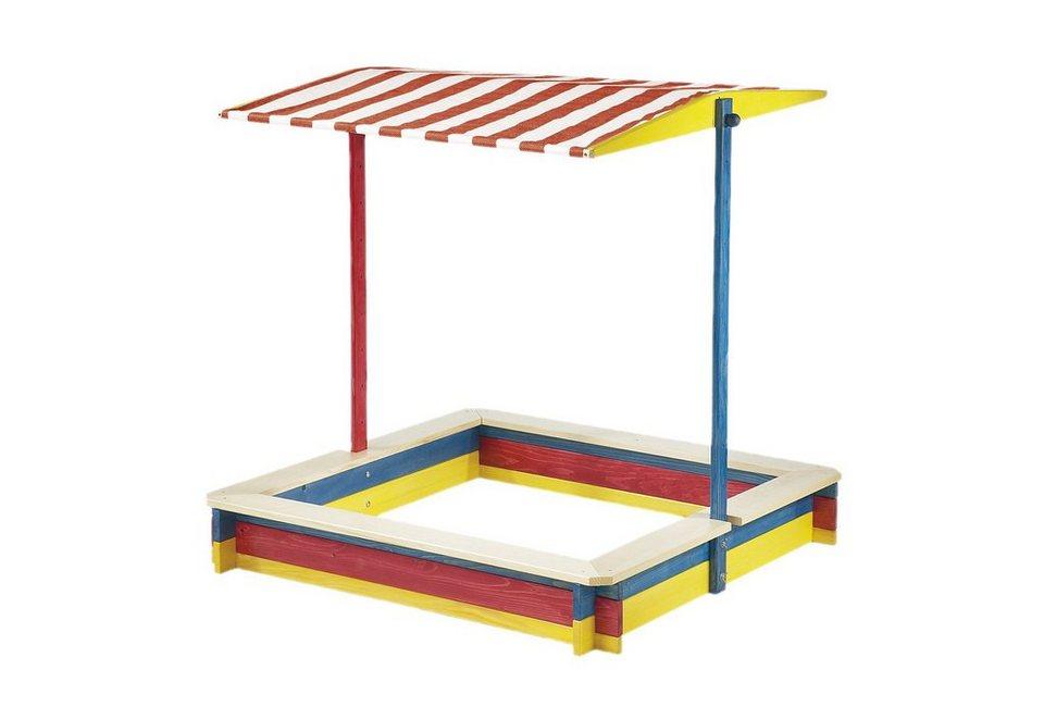 Pinolino Sandkasten mit verstellbarem Dach »Lukas«, bunt