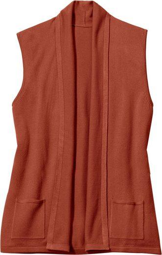 Classic Basics Strickweste in modischer Longform