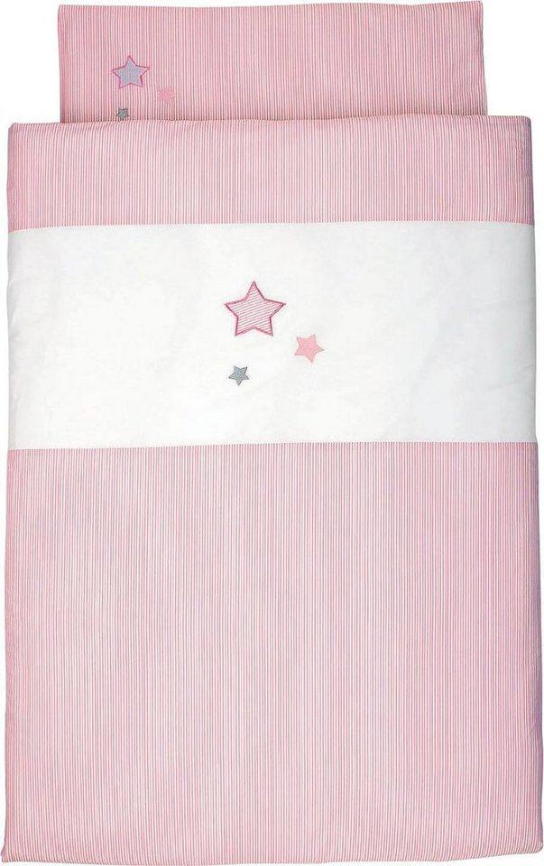 Kinderbettwäsche »Sterne«, Sterntaler® | Kinderzimmer > Textilien für Kinder > Kinderbettwäsche | Rosa | Sterntaler®