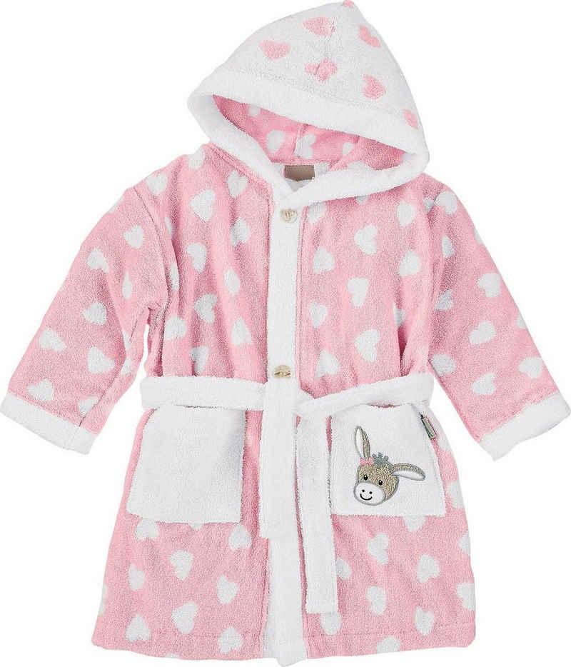 Babybademantel »Esel Emmi Girl«, Sterntaler®, mit Herzen