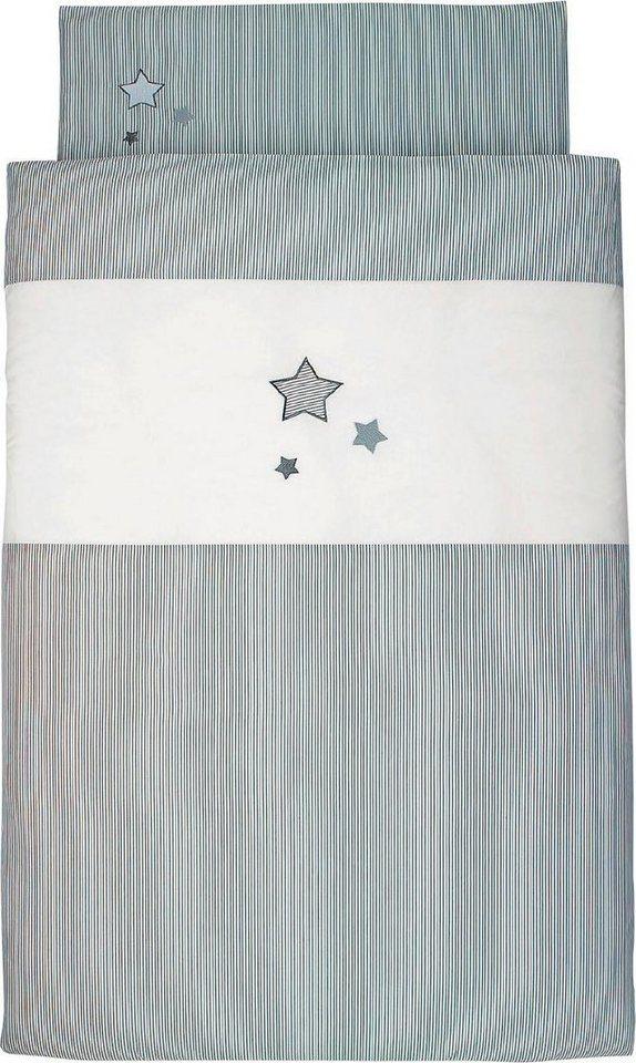 Kinderbettwäsche »Sterne«, Sterntaler® | Kinderzimmer > Textilien für Kinder > Kinderbettwäsche | Grau | Sterntaler®