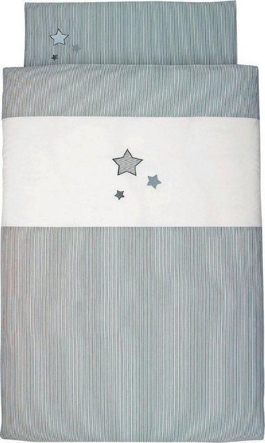 Kinderbettwäsche »Sterne«, Sterntaler®, mit Sternen | Kinderzimmer > Textilien für Kinder > Kinderbettwäsche | Grau | Sterntaler®