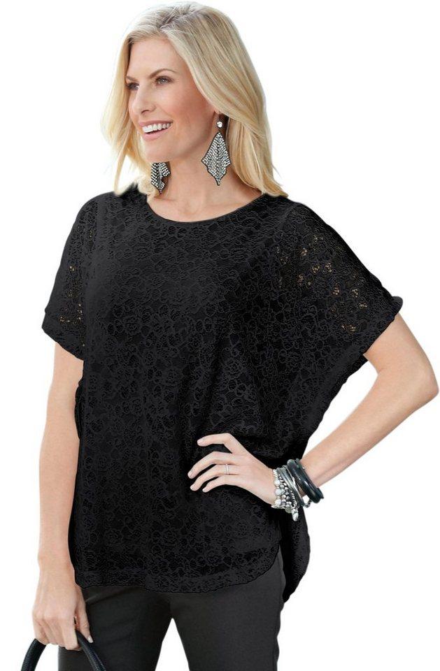 Classic Basics Tunikashirt aus floraler, transparenter Spitze | Bekleidung > Shirts > Tunikashirts | Schwarz | Classic Basics