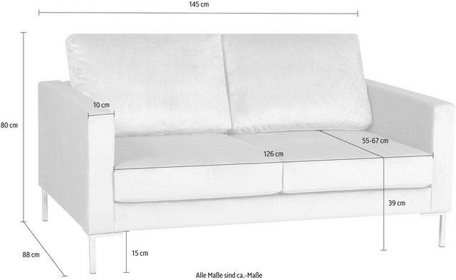 Sofas - Alte Gerberei 2 Sitzer »Velina« mit Metall Winkelfüßen  - Onlineshop OTTO